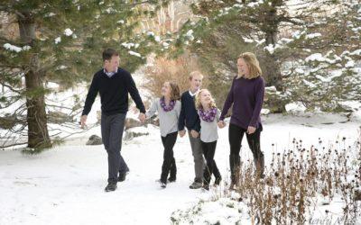 Best Denver Spots for Winter Family Photos