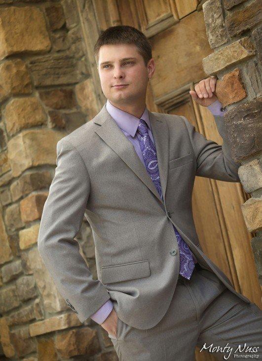 business portrait khaki suit
