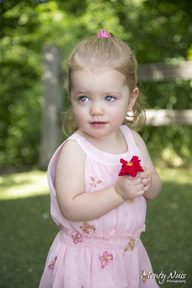 blue eyes red flower pink floral dress blonde