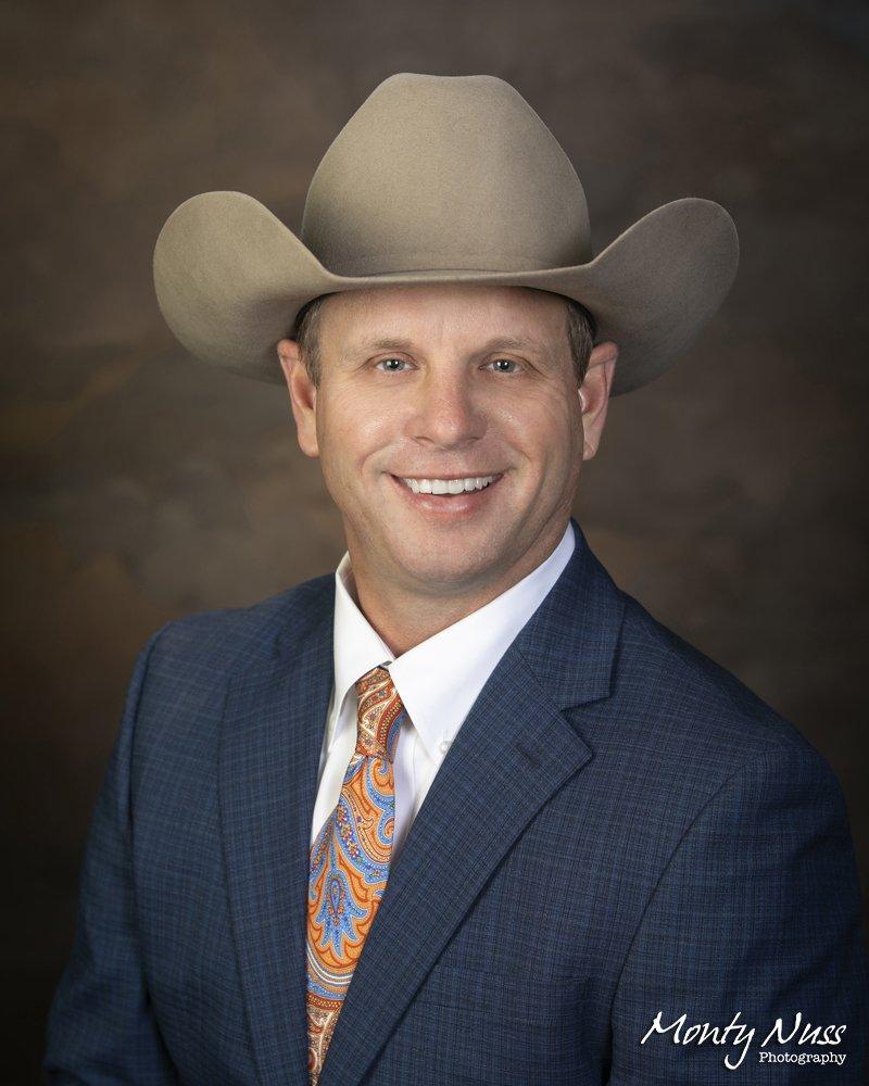 cowboy hat professional headshot