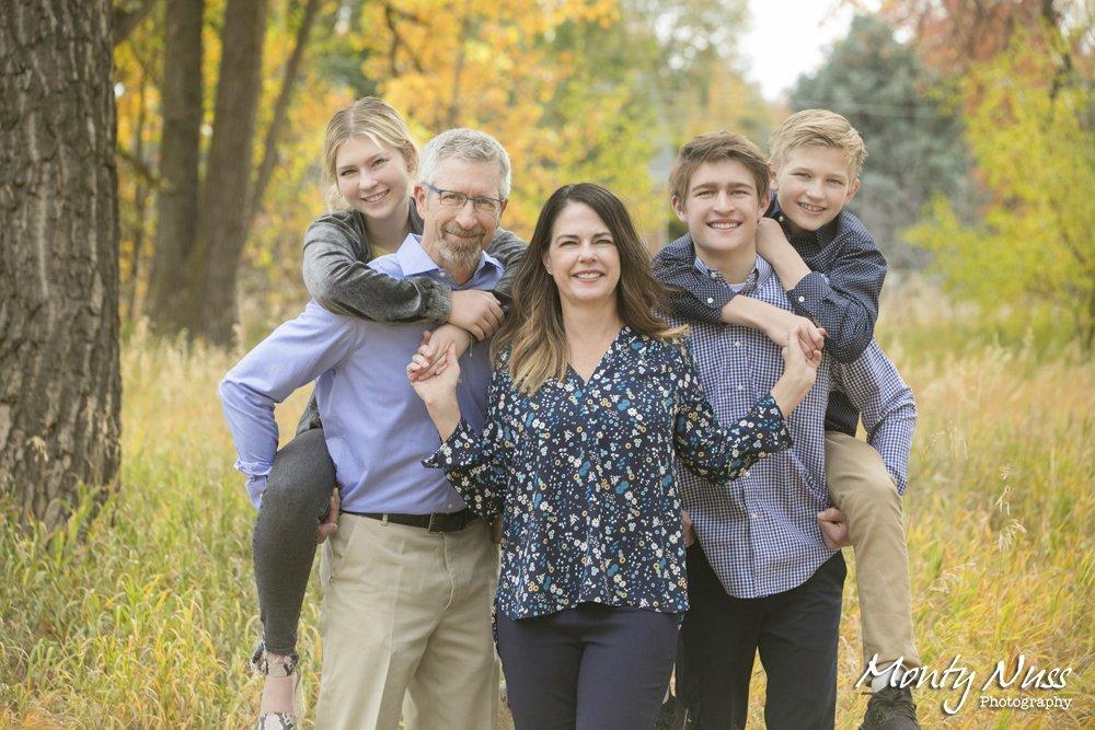 fall family photography colorado nature