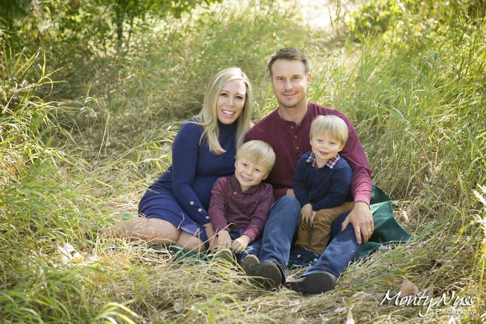family portrait tall grass green colorado park