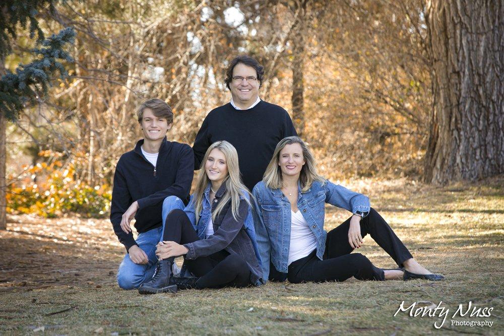 winter family photography denim